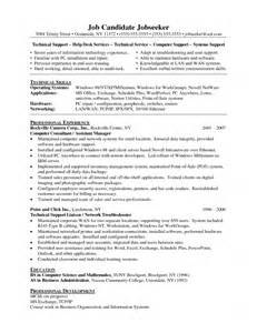 It Technical Support Sle Resume by Sales Technical Support Resume Entry Level Information Technology With No Experience Cv