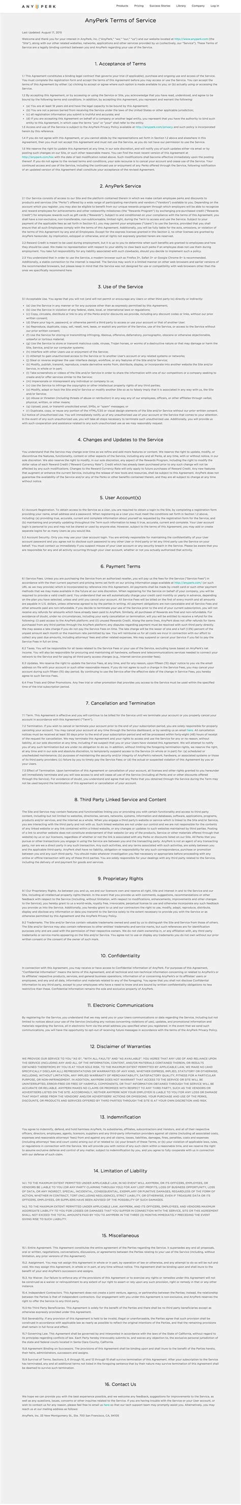 28 terms of service agreement template free sle