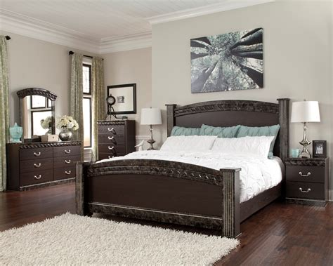 poster bedroom sets vachel poster bedroom set from ashley b264 67 64 98 61