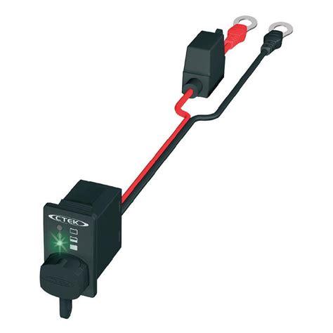 lade led a batteria ladebuchse und ladezustandsanzeige ringkabelschuh m8 ctek