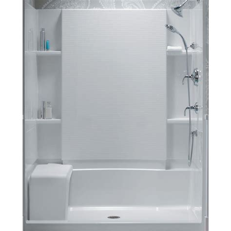 bathtub wall set sterling accord 36 in x 60 in x 55 1 8 in bath shower