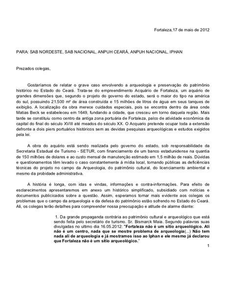 carta para transferencia de multa carta em defesa do patrim 244 nio cultural de fortaleza