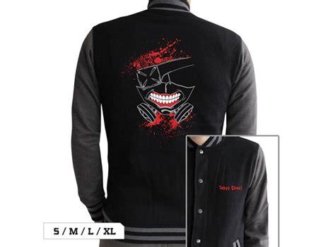Jaket Kaneki Black Grey Jaket Tokyo Ghoul Mask Kaneki kaneki ken s mask jacket tokyo ghoul otakustore gr