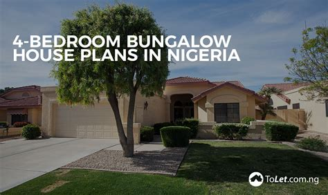 Four Bedroom House Floor Plans by 4 Bedroom Bungalow House Plans In Nigeria Tolet Insider