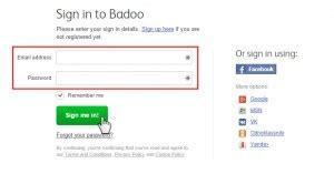 mobile badoo login badoo login www badoo account sign in