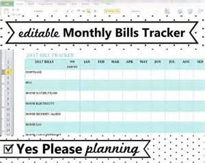 Bill Tracker Template by Household Bill Tracker Monthly Bills Spreadsheet Bill