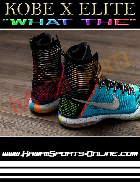 Sepatu Basket Nike Nk01 toko olahraga hawaii sports sepatu basket original nike x elite quot what the quot bryant