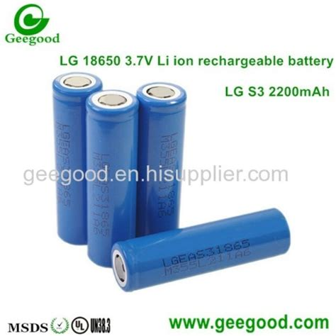 Lg 18650 Li Ion Battery 3200mah 3 7v With Flat Top lg 18650 batteries s3 b4 c2 d1 d2 e1 fil 2200mah 2600mah 2800mah 3000mah 3200mah 3350mah