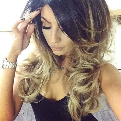 hair color blonde on top dark at ends long hair 1282 best images about ombr 233 balayage rooty looks color