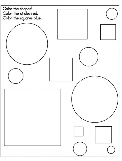 free coloring pages of basic geometric shapes