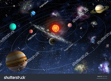 planet diagram diagram planets solar system stock illustration 1827206