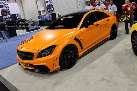 orange mercedes orange mercedes cls550 black bison by dbx benzinsider