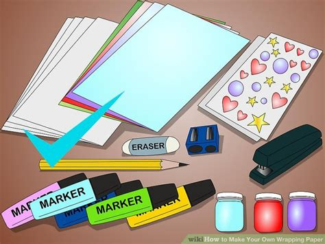 How To Make Your Own Wrapping Paper - 5 ways to make your own wrapping paper wikihow