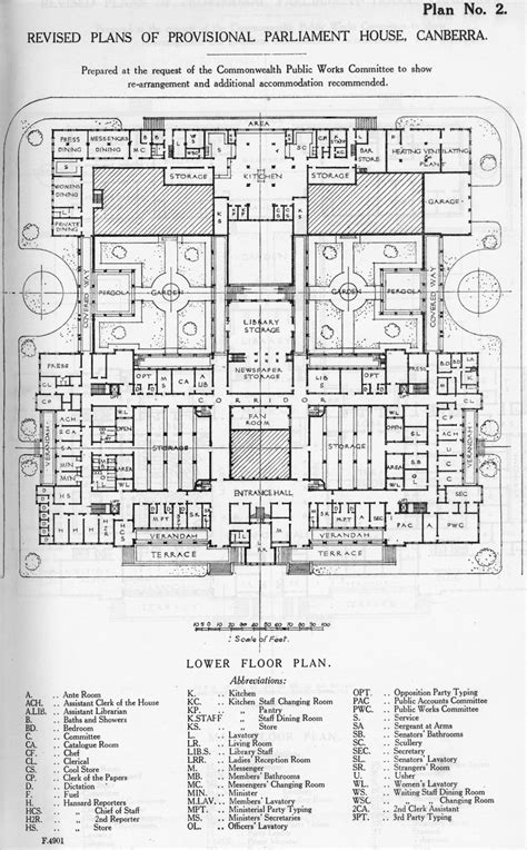 houses of parliament floor plan as it was in the beginning parliament house in 1927