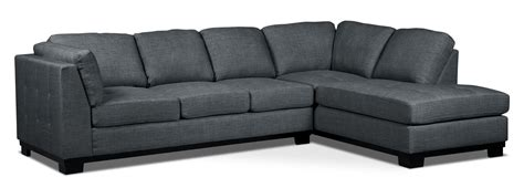 Oakdale Sofas by Oakdale 2 Linen Look Fabric Right Facing Sectional
