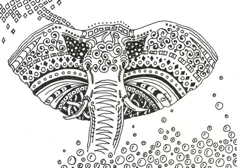 coloring pages for adults of elephants floral elephant coloring pages for adults zentangled