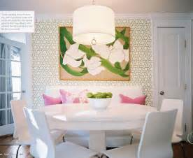 Settee For Kitchen Table The Green Room Interiors Chattanooga Tn Interior Decorator Designer Settee At The Dining Table