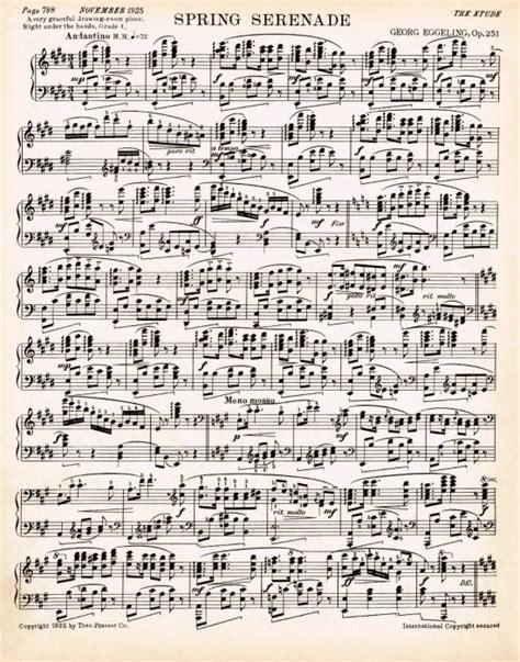 printable images of sheet music spring printable antique sheet music via knickoftime net
