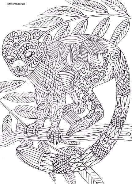 monkey coloring pages for adults 651 best coloring animals images on pinterest coloring