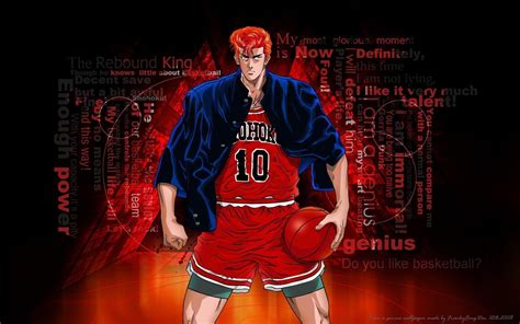slam dunk anime wallpaper hanamichi sakuragi wallpapers wallpaper cave