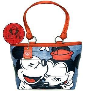Harv Set Denim disney harveys bag carriage ring tote mickey minnie