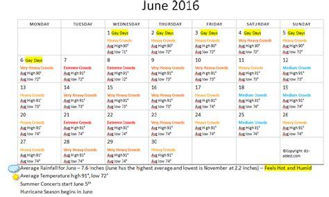 Calendar Weather June 2016 Disney World Crowds Weather Calendar Walt
