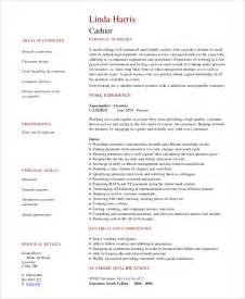 Resume Exles For Cashier by Sle Cashier Resume 7 Exles In Word Pdf