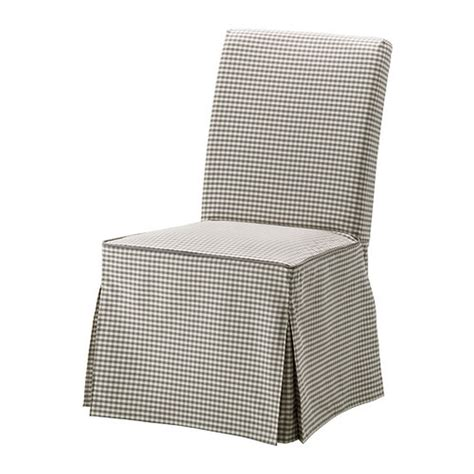 ikea henriksdal chair slipcover cover skirted sagmyra gray