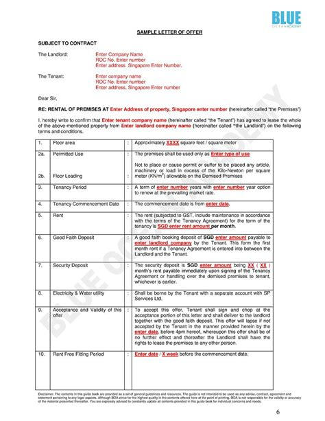 Letter Of Agreement Singapore Eguide Book For Transaction Form Simplebooklet