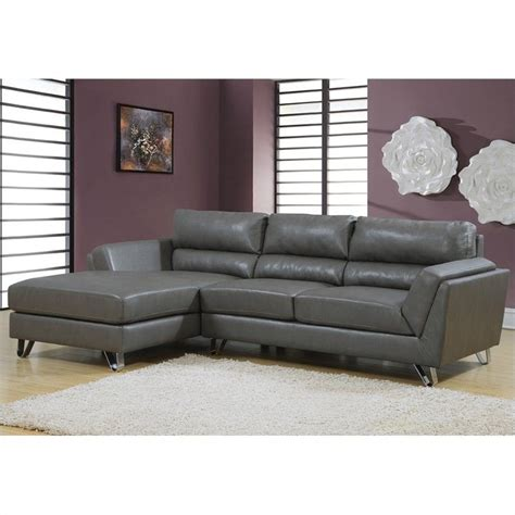 charcoal grey leather sectional leather sofa lounger in charcoal gray with padded seat