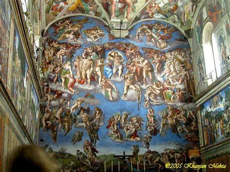 The Painting On The Ceiling Of The Sistine Chapel by The Sistine Chapel