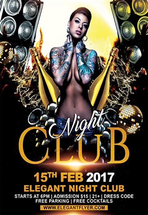 night club flyer psd template facebook cover by