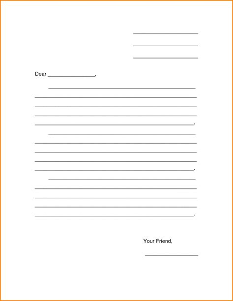 printable letter template for blank letter template printable