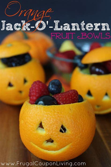 Blue Pumpkins Fruit Cutters And Pretty Stuff by Orange O Lantern Fruit Cups Healthy Treat Bowls