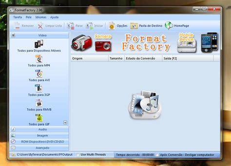 format factory converter quais formatos veja como usar o formatfactory e converter arquivos de