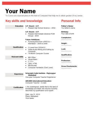 biodata format doc file biodata what it is 7 biodata resume templates