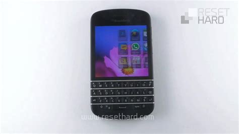 reset blackberry factory blackberry q10 factory reset youtube