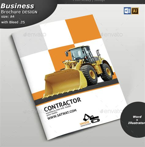 construction brochure templates brochure design ideas exle 22 documents