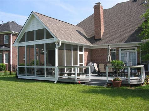 Pictures Of Decks With Screened Porches Large Screen Screened Patio Designs
