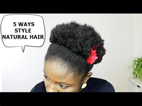 how to style hair 5 ways