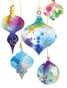 christmas watercolor ornaments holiday card by masha d yansmasha watercolor mischief