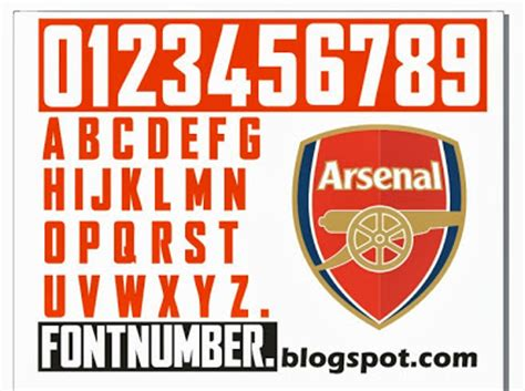 arsenal jersey font free download font for away shirt is in proggress be passionated