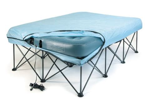 lcm direct portable bed frame for air filled mattresses with carry storage bag bed