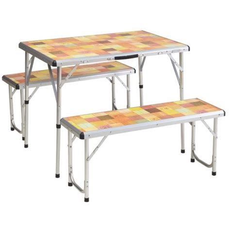 coleman pack away table compact folding table deck chair with table coleman