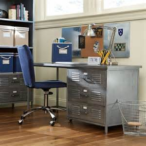 boys desk locker desk industrial desks and hutches by pbteen