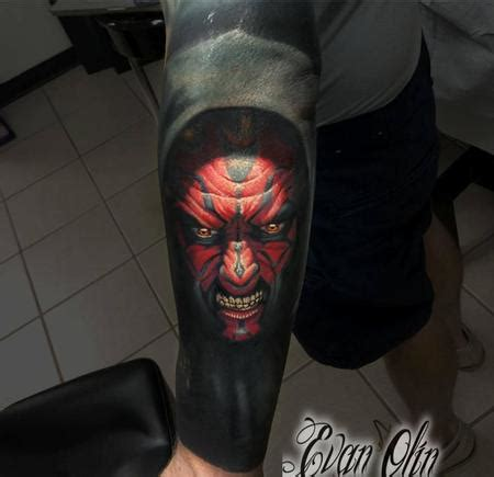 tattoo cover up portrait darth maul portrait tattoo with cover up by evan olin