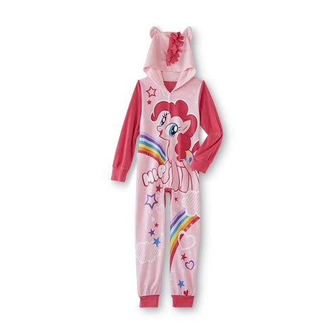 Pey Litte Pajamas by Mattel My Pony S Hooded One Fleece