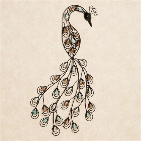 Peacock Wall Decor by Resting Peacock Metal Wall