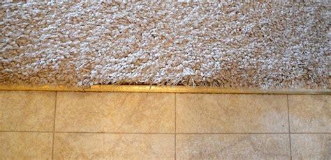 carpet ceramic tile transition how to fix frayed carpet at tile transition home