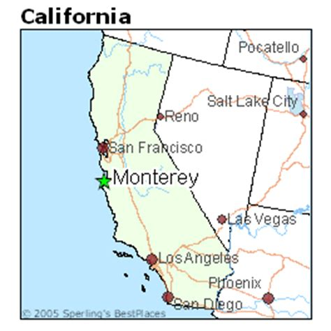 california map monterey best places to live in monterey california